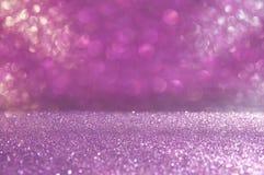 Glitter vintage lights background. pink and silver. defocused. Stock Images