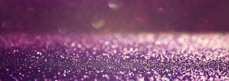 Glitter vintage lights background. pink and silver. defocused Stock Image