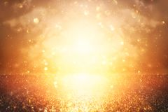 glitter vintage lights background. silver and gold. de-focused. royalty free stock photos