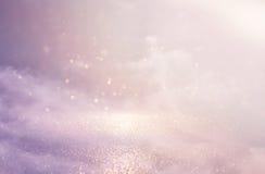 glitter vintage pink lights background. de-focused stock images