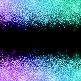 Glitter with violet blue turquoise color effect on black background. Vector Stock Image
