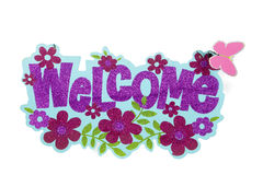 Glitter Welcome Sign Royalty Free Stock Photos