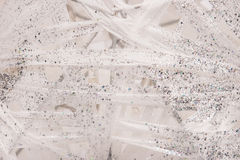 Glitter white and silver background Royalty Free Stock Photography