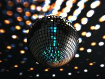 Glitterball. A funky glitterball sparkles from the ceiling royalty free illustration