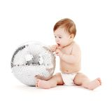 Glitterball baby Stock Photography