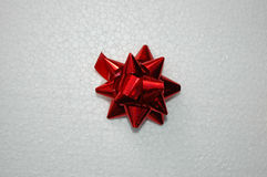 Glittered bow for gift Royalty Free Stock Image