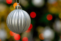 Glittered Ornament Ball for Christmas Tree Stock Images