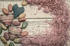 Glittergodis för annonsering, sötsaker på bakgrunden royaltyfri bild