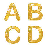 Glittering ABCD Royalty Free Stock Photo