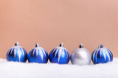 Glittering blue christmas balls Stock Image