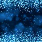 Glittering bokeh abstract. Blue glittering bokeh abstract background Stock Image