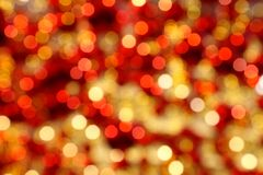 Glittering bokeh background for Christmas an with copy space royalty free stock photos