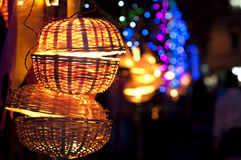Glittering bokeh in the street Stock Photography