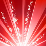 Glittering burst Stock Photo