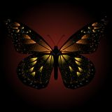 Glittering butterfly background Royalty Free Stock Photo