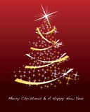 Glittering christmas background Stock Photo