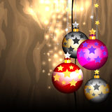 Glittering Christmas balls Stock Photos