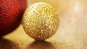 Glittering Christmas decorations banner Stock Images