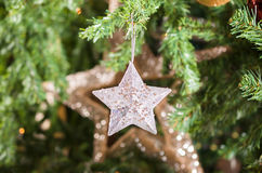 Glittering Christmas stars Royalty Free Stock Photography
