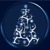 Glittering christmas tree Stock Photos