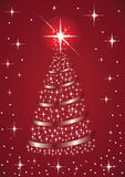 The glittering Christmas tree Royalty Free Stock Images