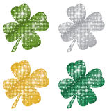Glittering Clovers Royalty Free Stock Photos
