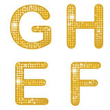 Glittering EFGH Royalty Free Stock Photography