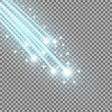 Glittering falling stars, aqua color Royalty Free Stock Images