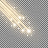 Glittering falling stars, golden color Royalty Free Stock Photography