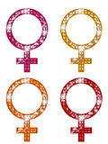 Glittering FEMALE Symbols Stock Images