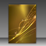 Glittering folder template - sparkling Royalty Free Stock Image