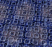 Glittering frame. Dark blue abstraction as a series of rectangular volumetric framework for the glittering backdrop of glittering lines Stock Photography