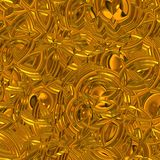 Glittering gold surface. Computer generated illustration of textured gold surface Stock Images