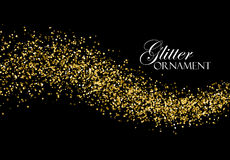Glittering golden stream of sparkles. Royalty Free Stock Images