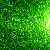 Glittering green background. With some smooth lights and sparkles Stock Images