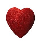 Glittering heart with path Royalty Free Stock Images