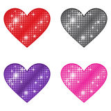 Glittering Hearts Royalty Free Stock Photography