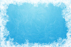 Glittering ice frame Royalty Free Stock Image