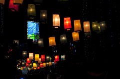 Glittering lanterns in the street Stock Photography