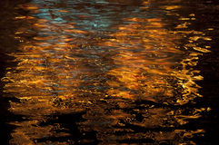 Glittering  lights on water Royalty Free Stock Images
