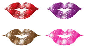 Glittering Lips Royalty Free Stock Photography