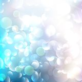 Glittering llight on bokeh background. Stock Photo