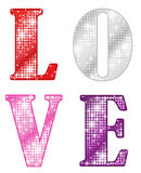 Glittering LOVE Stock Images