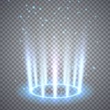 Glittering magic fantasy portal stock illustration