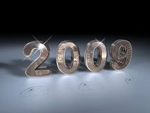 Glittering metallic 2009 Royalty Free Stock Images