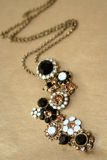 Glittering necklace stock photo