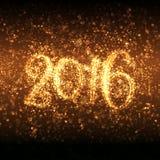 Glittering New Year 2016 Stock Image