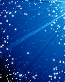 Glittering night sky. With moonbeams Royalty Free Stock Image