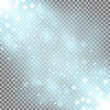 Glittering particles background effect, aqua color. Glittering particles background effect, sparkling texture, stardust sparks on transparent background, light vector illustration