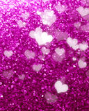Glittering pink background. With some smooth lights and sparkles royalty free stock photos